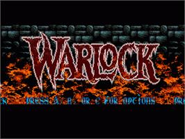 Title screen of Warlock on the Sega Nomad.