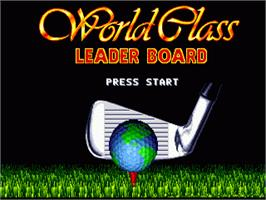 Title screen of World Class Leaderboard on the Sega Nomad.