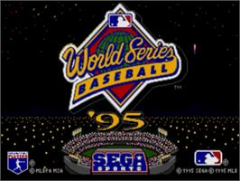 Title screen of World Series Baseball '95 on the Sega Nomad.