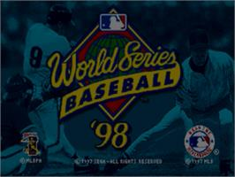 Title screen of World Series Baseball '98 on the Sega Nomad.
