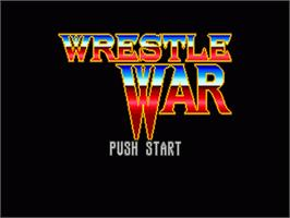 Title screen of Wrestle War on the Sega Nomad.
