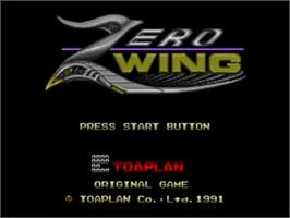 Title screen of Zero Wing on the Sega Nomad.