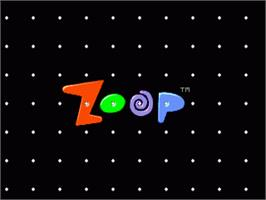 Title screen of Zoop on the Sega Nomad.
