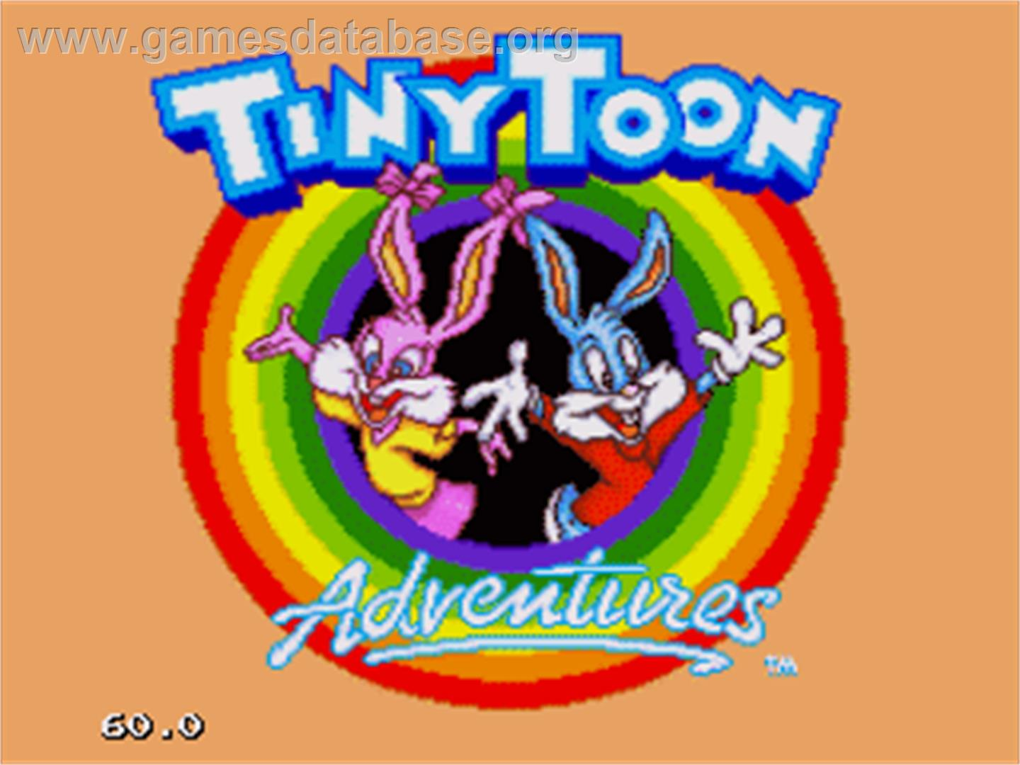 Tiny Toon Adventures: Buster's Hidden Treasure - Sega Nomad - Artwork - Title Screen