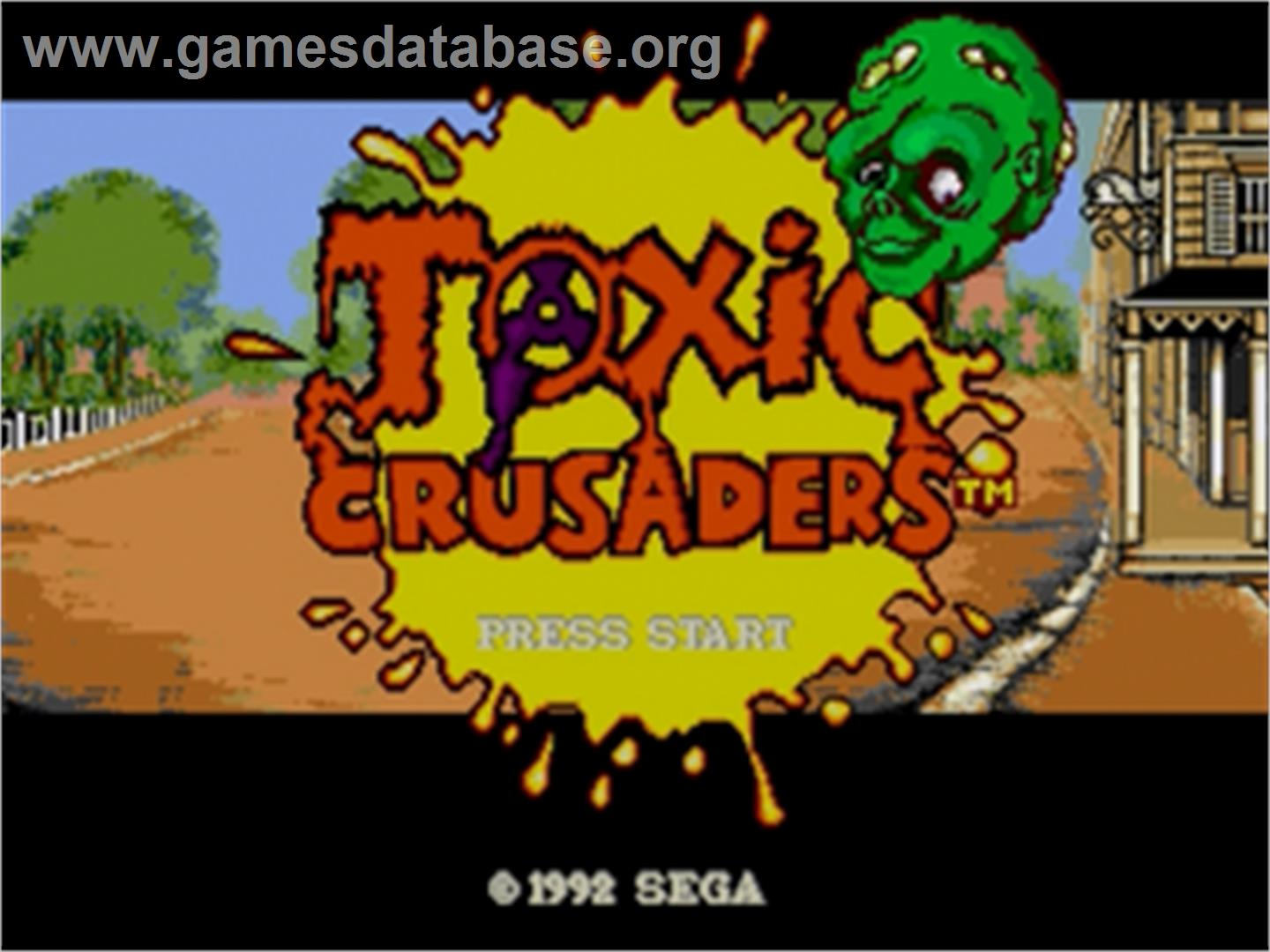 Toxic Crusaders - Sega Nomad - Artwork - Title Screen