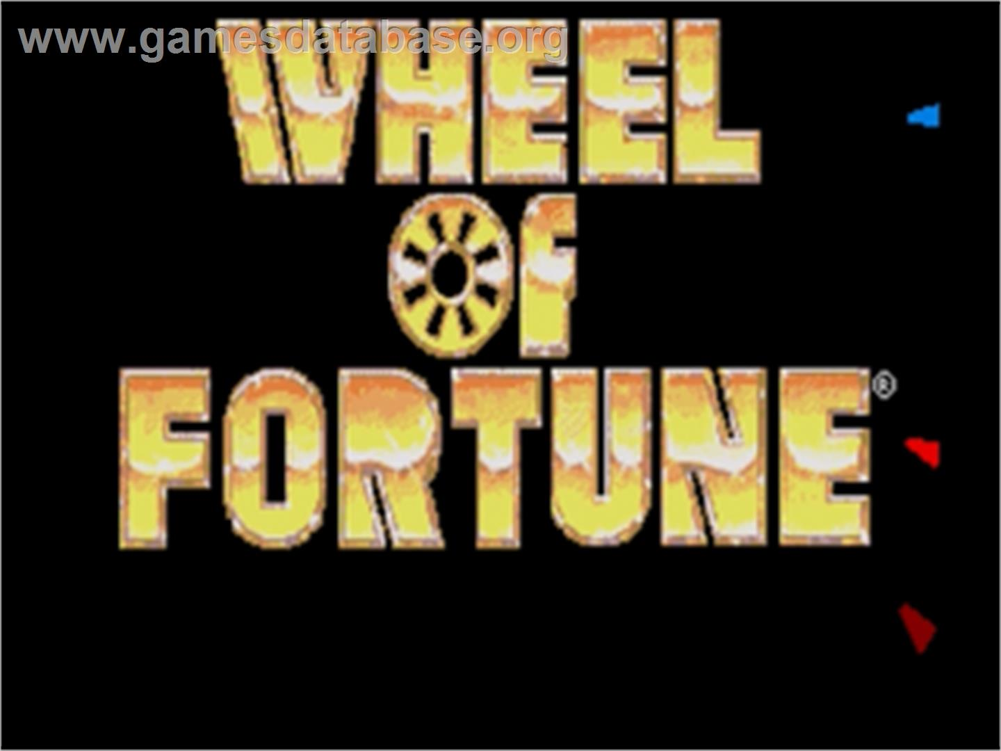 Wheel Of Fortune - Sega Nomad - Artwork - Title Screen