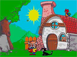 In game image of Professor Pico e l'Enigma della Scatola di Pastelli, Il on the Sega Pico.