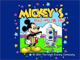 Title screen of Mickey's Blast into the Past on the Sega Pico.