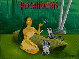 Title screen of Pocahontas on the Sega Pico.