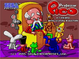 Title screen of Professor Pico e l'Enigma della Scatola di Pastelli, Il on the Sega Pico.