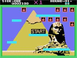 In game image of Bomb Jack on the Sega SG-1000.
