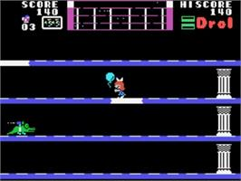 In game image of Drol on the Sega SG-1000.