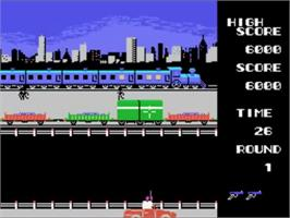In game image of Golgo 13 on the Sega SG-1000.