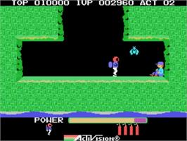 In game image of HERO on the Sega SG-1000.