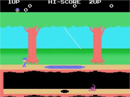 In game image of Pitfall II on the Sega SG-1000.