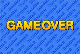 Game Over Screen for Critter Crusher.