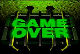 Game Over Screen for Die Hard Arcade.