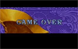 Game Over Screen for Golden Axe - The Duel.