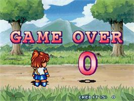 Game Over Screen for Puyo Puyo Sun.