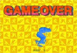 Game Over Screen for Winter Heat.