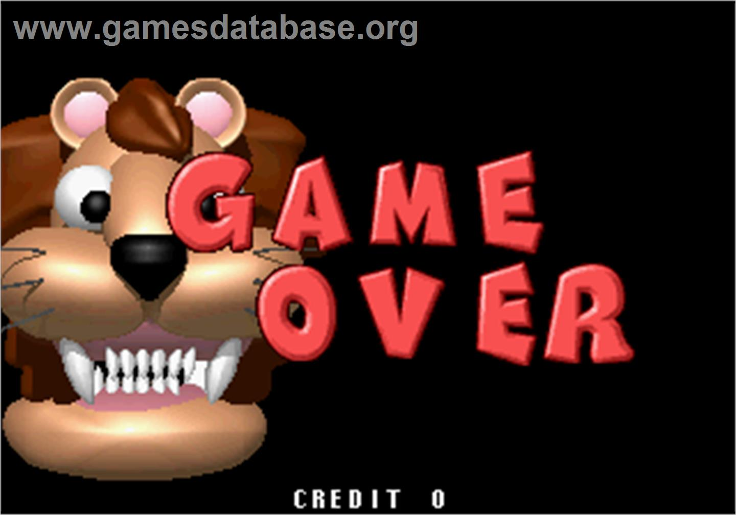 Baku Baku Animal - Sega ST-V - Artwork - Game Over Screen