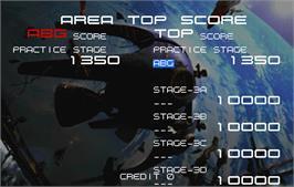 High Score Screen for Radiant Silvergun.