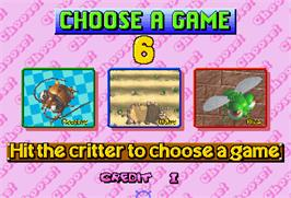 Select Screen for Critter Crusher.