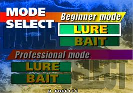 Select Screen for Sea Bass Fishing.