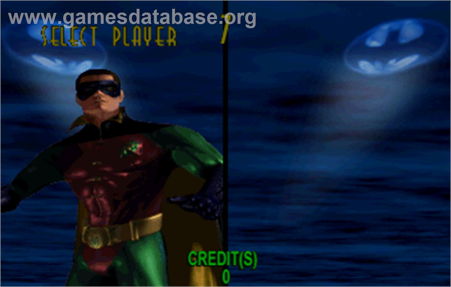 Batman Forever - Sega ST-V - Artwork - Select Screen
