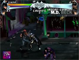 In game image of Batman Forever on the Sega ST-V.