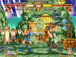 In game image of Golden Axe - The Duel on the Sega ST-V.