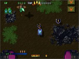 In game image of Guardian Force on the Sega ST-V.