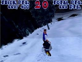 In game image of Steep Slope Sliders on the Sega ST-V.