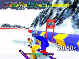 In game image of Winter Heat on the Sega ST-V.