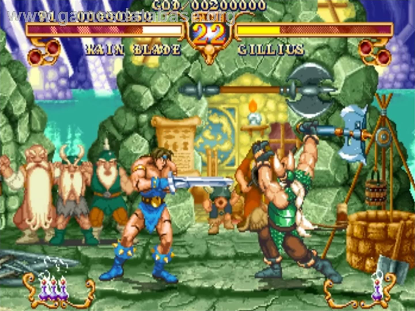 Golden Axe - The Duel - Sega ST-V - Artwork - In Game