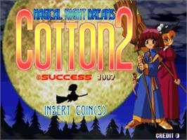 Title screen of Cotton 2 on the Sega ST-V.