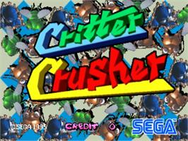 Title screen of Critter Crusher on the Sega ST-V.