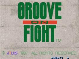 Title screen of Groove on Fight - Gouketsuji Ichizoku 3 on the Sega ST-V.