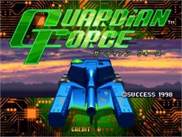 Title screen of Guardian Force on the Sega ST-V.