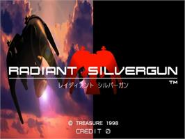 Title screen of Radiant Silvergun on the Sega ST-V.