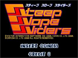 Title screen of Steep Slope Sliders on the Sega ST-V.
