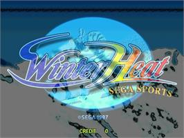 Title screen of Winter Heat on the Sega ST-V.