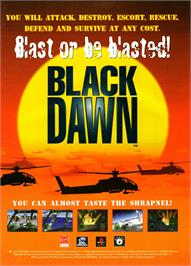 Advert for Black Dawn on the Sony Playstation.