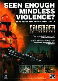 Advert for Crusader: No Remorse on the Sony Playstation.