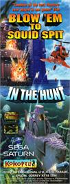 Advert for In The Hunt on the Sega Saturn.