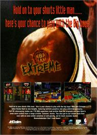 Advert for NBA Jam Extreme on the Sega Saturn.