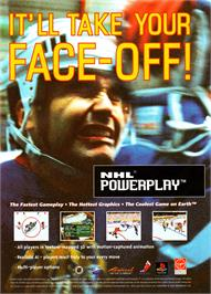 Advert for NHL Powerplay '96 on the Sega Saturn.