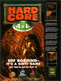 Advert for TNN Motor Sports Hardcore 4x4 on the Sony Playstation.