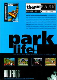 Advert for Theme Park on the Commodore Amiga CD32.