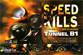 Advert for Tunnel B1 on the Sony Playstation.